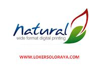 Lowongan Kerja Solo dan Jakarta April 2021 di Natural Digital & Offset Printing