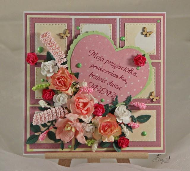 dzien mamy, dla niej, Magiczna karta, Magia Ombre, inspiracje, pomysł na prezent dla mamy, handmad, scrap, kartka dla mamy