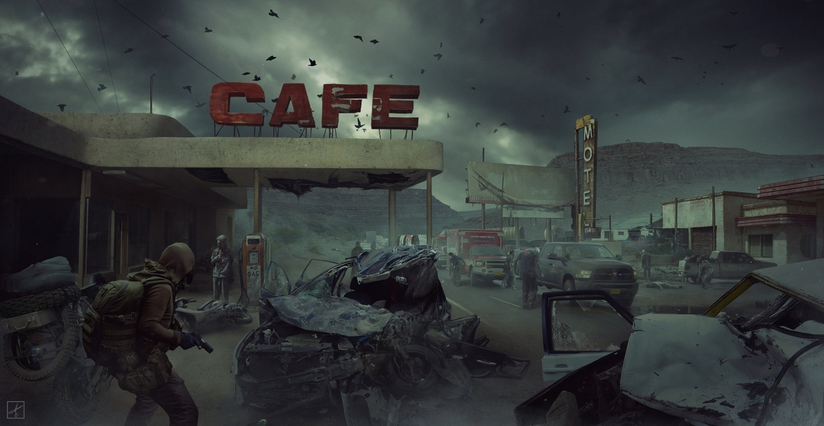 02-Cafe-Pavel-Proskurin-Matte-Paintings-Illustrations-of-Stark-Worlds-www-designstack-co