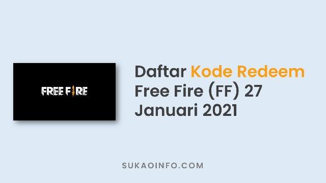 Kumpulan Kode Redeem FF 27 Januari 2021 yang Belum Digunakan