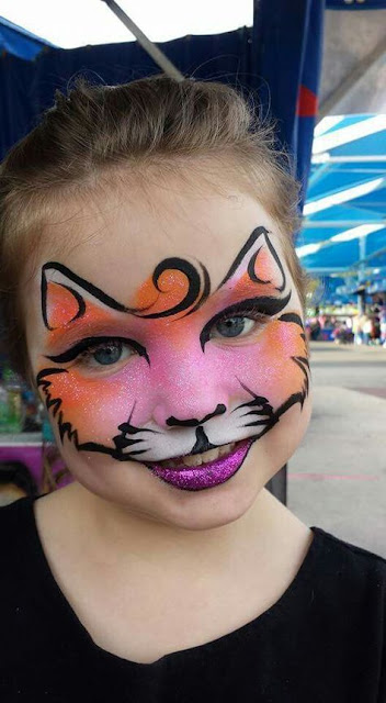 maquillage enfant chat brillants