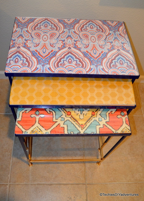 Blue and Cold Nesting Tables
