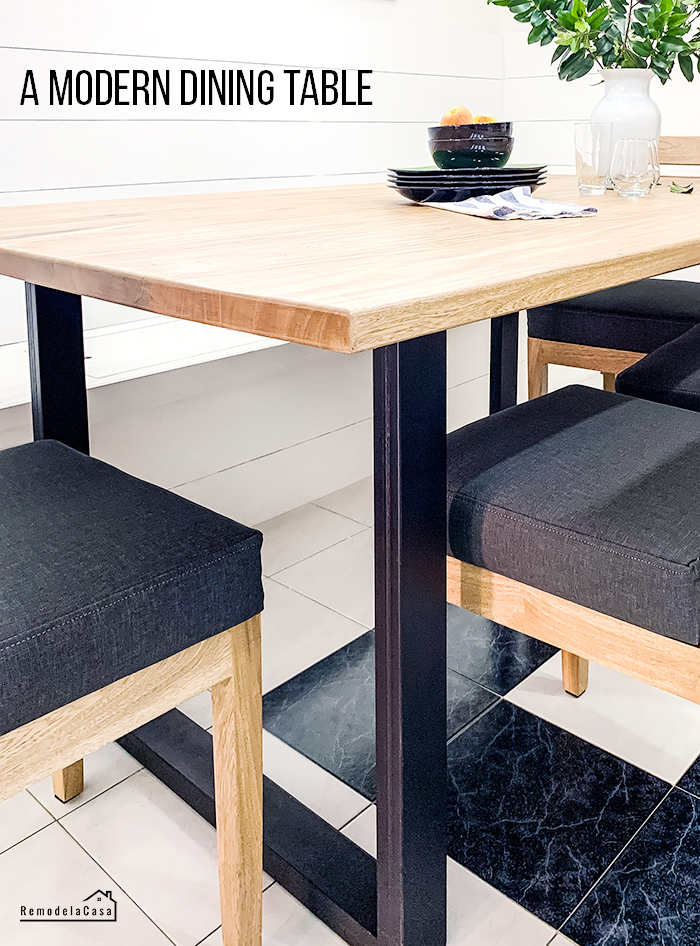 How to put together a modern dining table