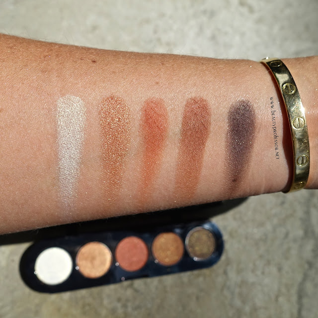 makeup atelier honey brown tones eyeshadow palette swatches