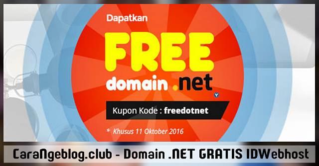 Promo IDWebhost, GRATIS Domain .NET Bulan Oktober 2016, Promo IDWebhost, GRATIS Domain .NET untuk Blogger Indonesia