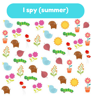 Printable Games by Practical Mom: I Spy (Summer)
