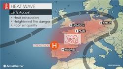 Στο αποκορύφωμά του θα φτάσει σήμερα Πέμπτη ο καύσωνας με πρωτοφανείς θερμοκρασίες που επηρεάζει την Ευρώπη τα τελευταία 24ωρα. ΄Ήδη από την...