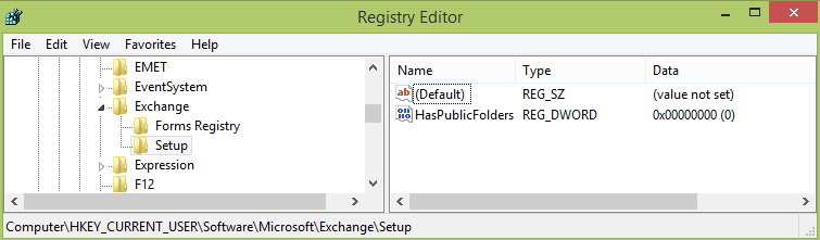 Online Help: Block Outlook from connecting to Public Folder
