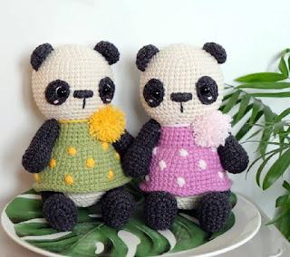 El blog de Dmc: Patrón de ganchillo gratis: Panda de amigurumi de ... | 284x320