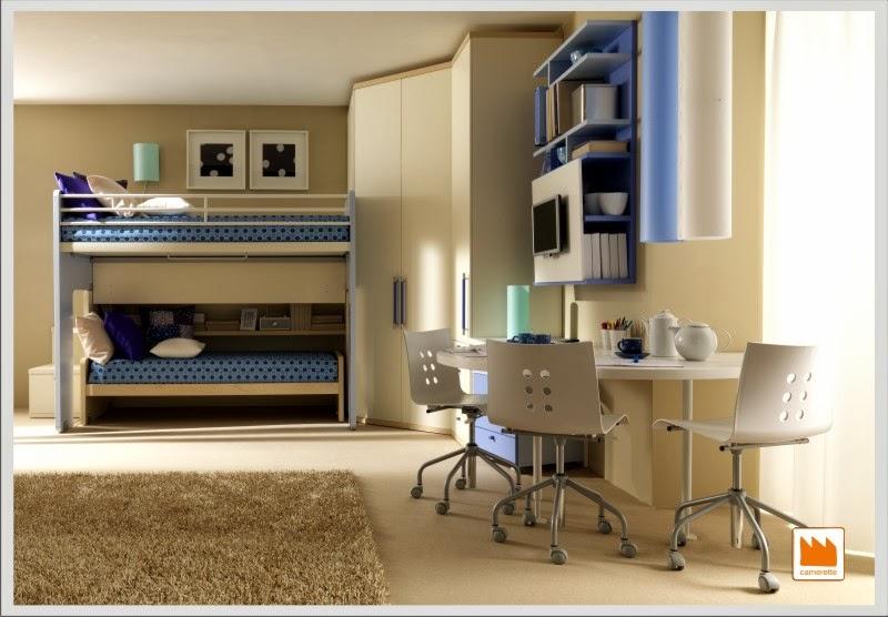 Dormitorios peque os para hermanos adolescentes - Colores para dormitorios pequenos ...