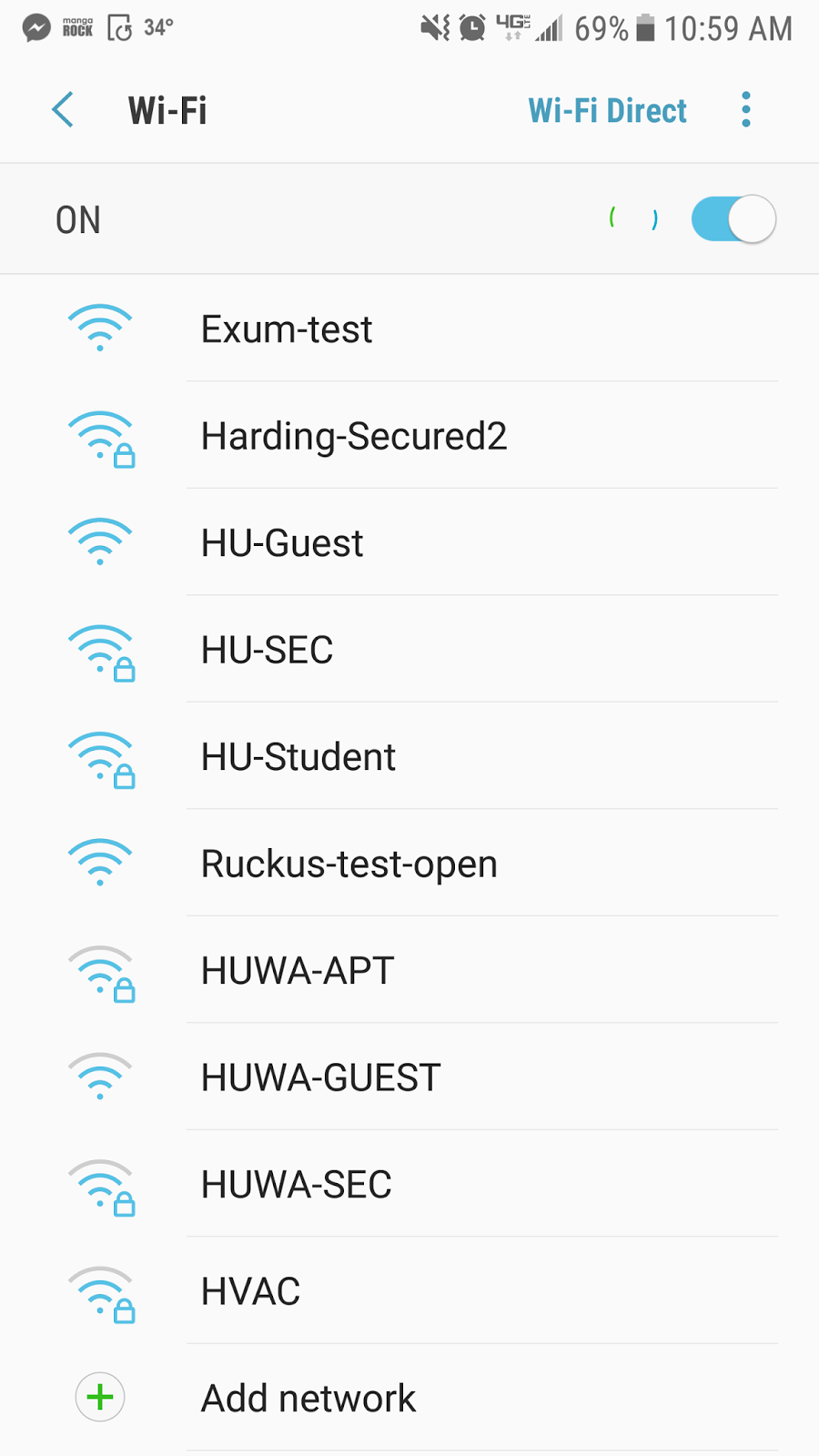 Connecting to HU-Student with Android | Harding University DormNet