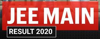 NTA JEE Main result 2020