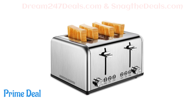 40%Off 4 slices stainless steel toaster