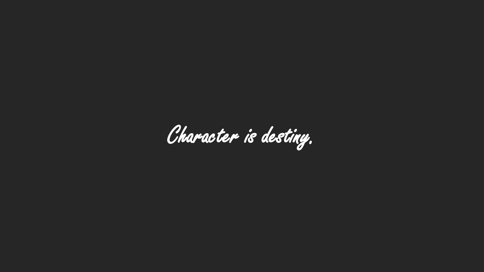 Dark Grey Computer Wallpaper with 15 Word Quotes - Wallpaper Caption