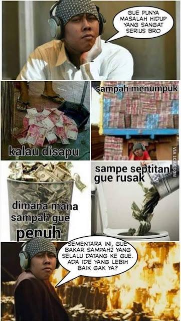 Meme orang sok kaya
