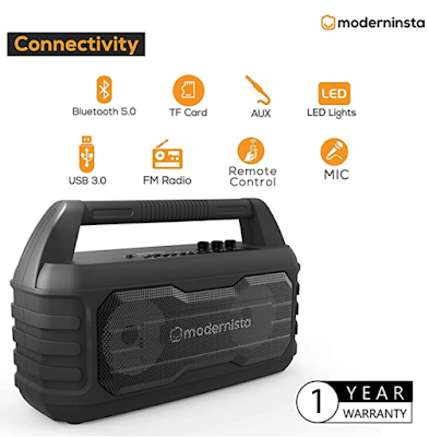 Modernista Sound-Beast 32 W Portable Bluetooth Party Speaker for Every Indoor and Outdoor Parties