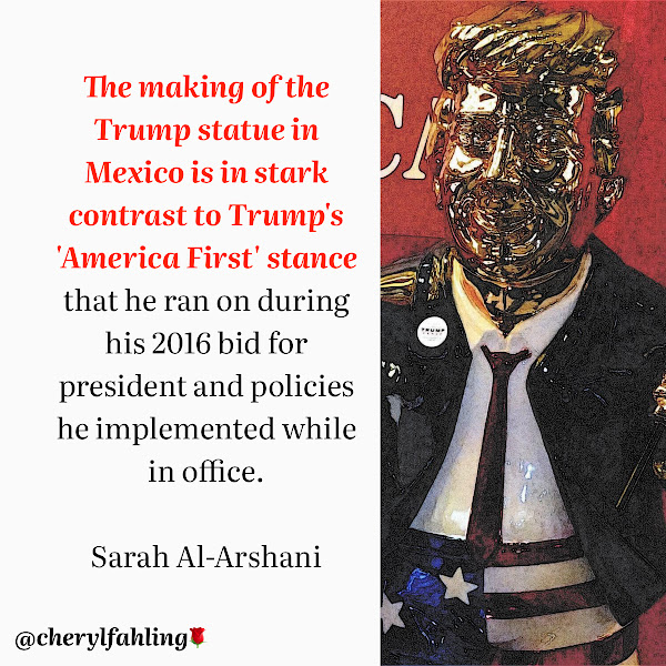 The making of the Trump statue in Mexico is in stark contrast to Trump's 'America First' stance that he ran on during his 2016 bid for president and policies he implemented while in office. — Sarah Al-Arshani, Business Insider Reporter