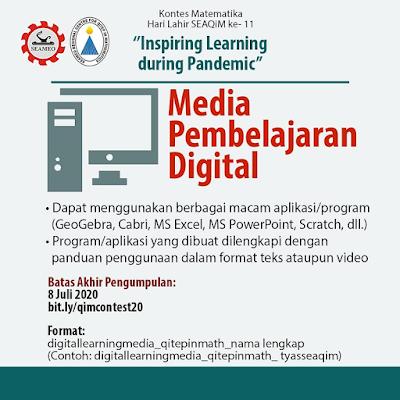 Kontes Media Pembelajaran Digital Matematika Seaqim Tahun 2020