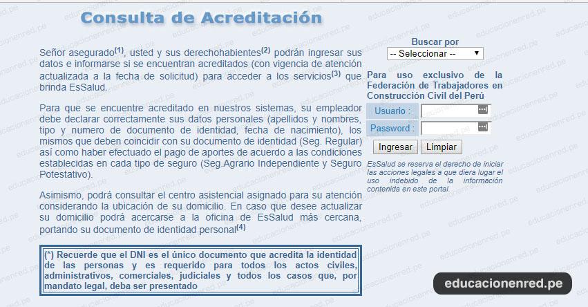 EsSalud: Conoce tu centro de atención con tu DNI - www.essalud.gob.pe