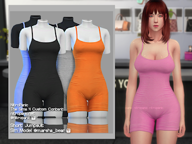 Short Jumpsuit for The Sims 4