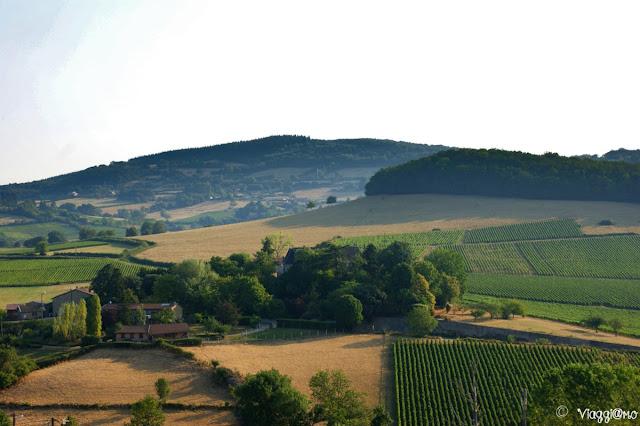 Vista panoramica sulle colline della Borgogna