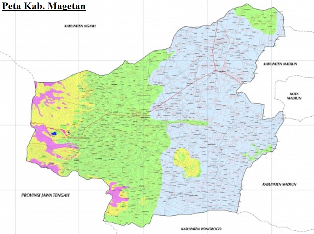 Peta Kabupaten Magetan