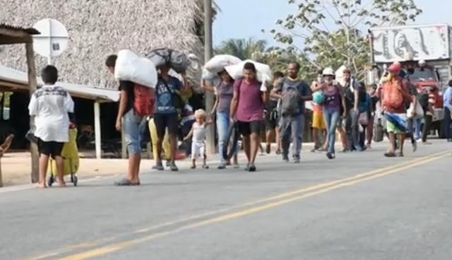 FRONTERA: El dilema con los caminantes que vienen hacia Arauca-Colombia e intentan retornar a Venezuela.