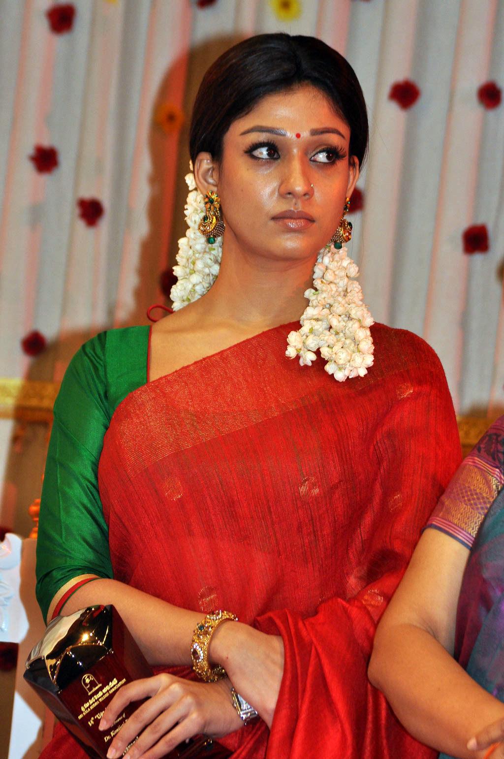 Nayantara Photos In Red Saree