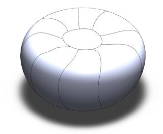 superficie de la calabaza dividida en caras