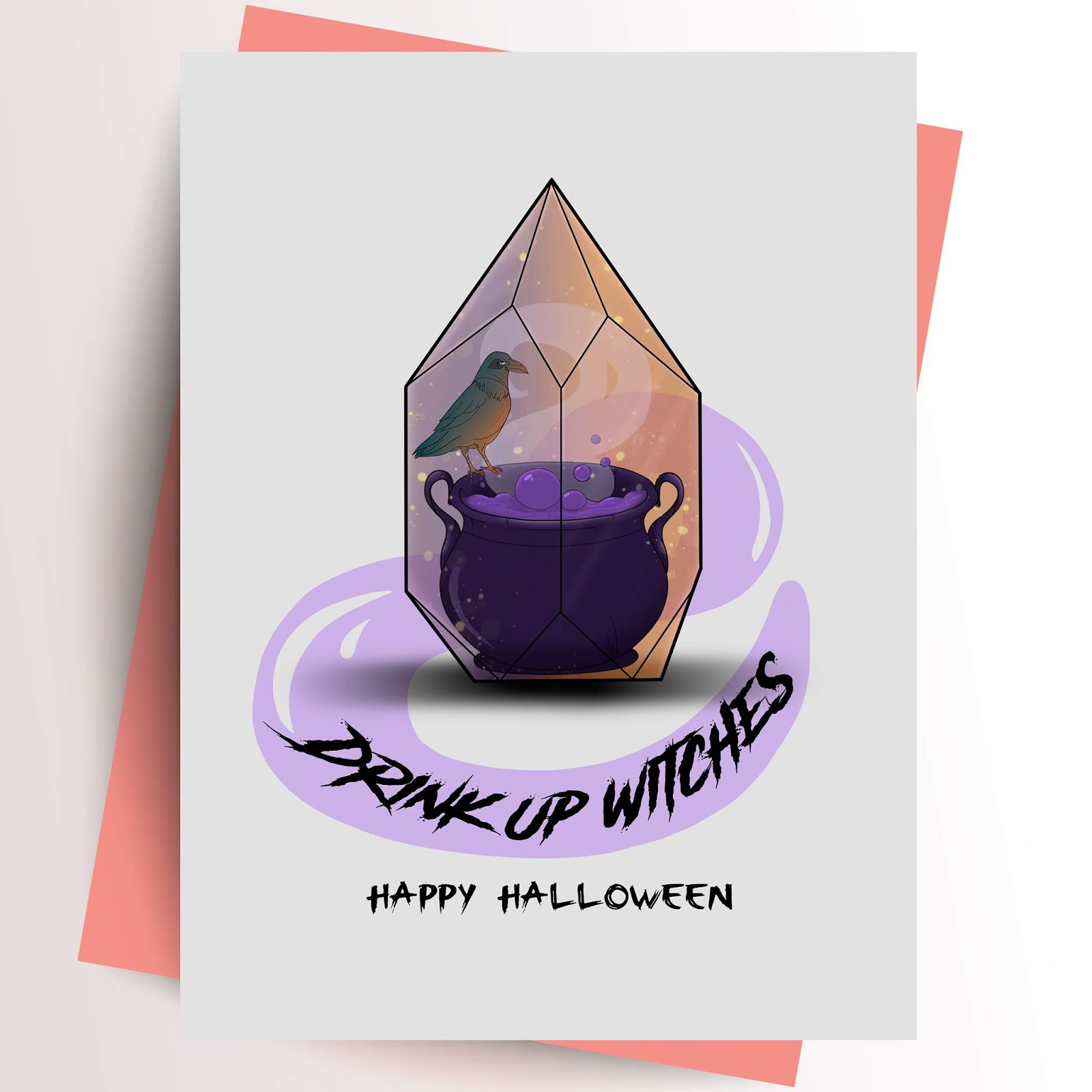 halloween greeting cards spooky cute