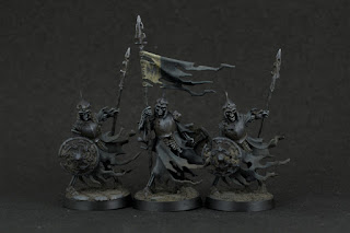 Cursed City Ulfenwatch Spearmen and Standard Bearer (front)