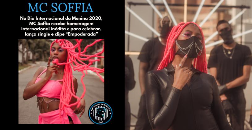 """MC Soffia receberá homenagem internacional e para celebrar lançará o clipe """"Empoderada"""""""