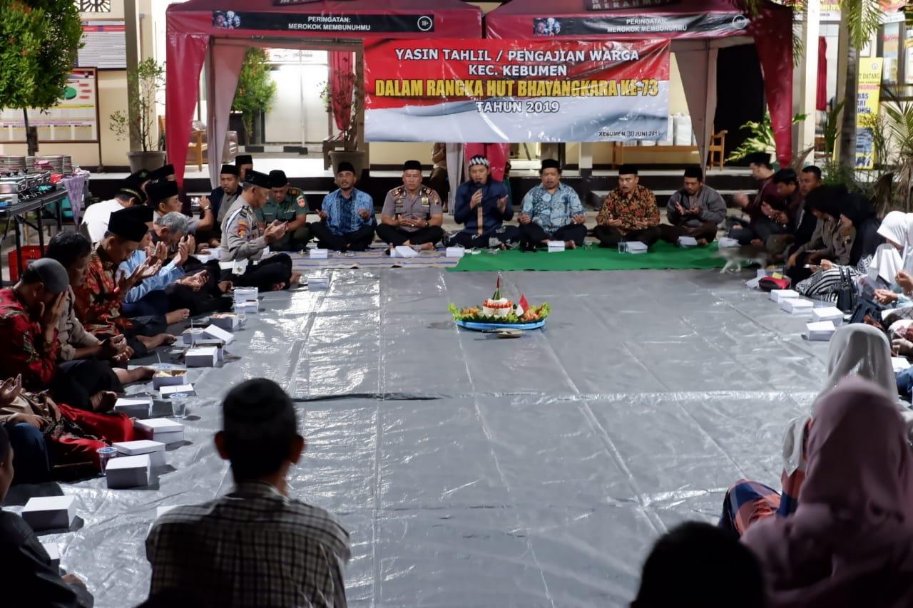 Hari Bhayangkara, Doa dan Tahlil Bersama Digelar di Polsek Kebumen