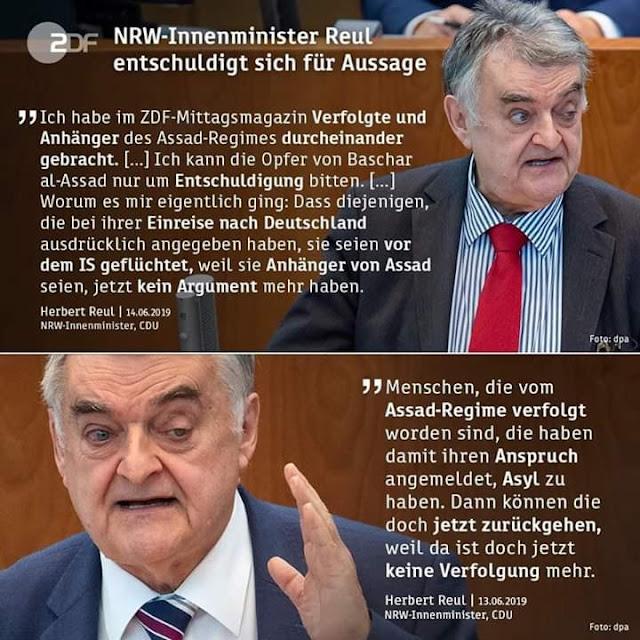 قرارات جديدة لوزراء الداخلية الألمان بخصوص اللاجئين السوريين وأحدهم يعتذر