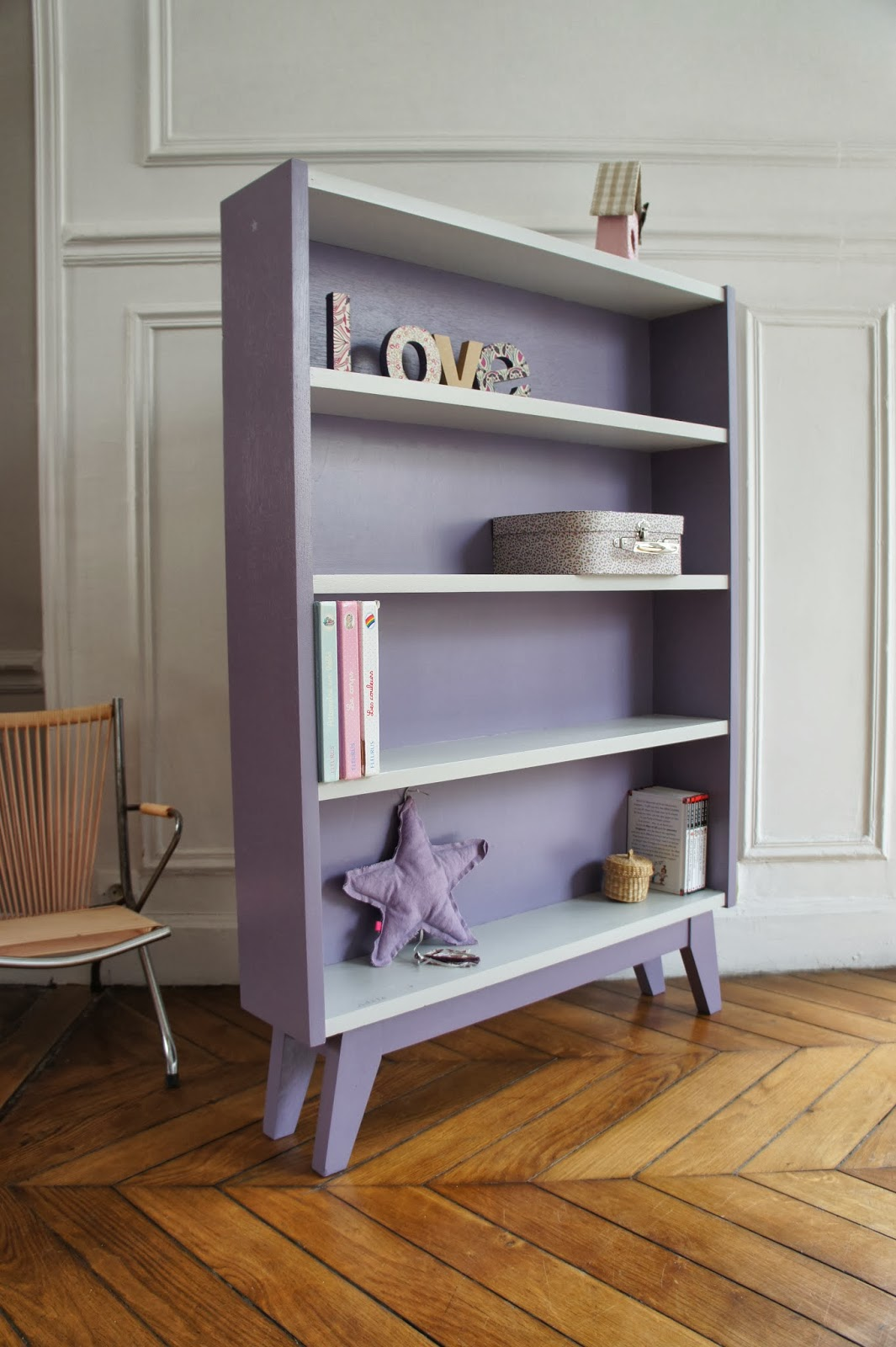 atelier petit toit biblioth que revisit e sur commande. Black Bedroom Furniture Sets. Home Design Ideas