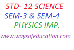 STD 12 SCIENCE SEM-3 AND SEM-4 IMP.QUESTION IN PHYSICS BY P.M.PATEL SIR