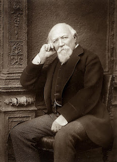 Robert Browning pictured in 1888, about  a year before he died in Venice,  aged 77
