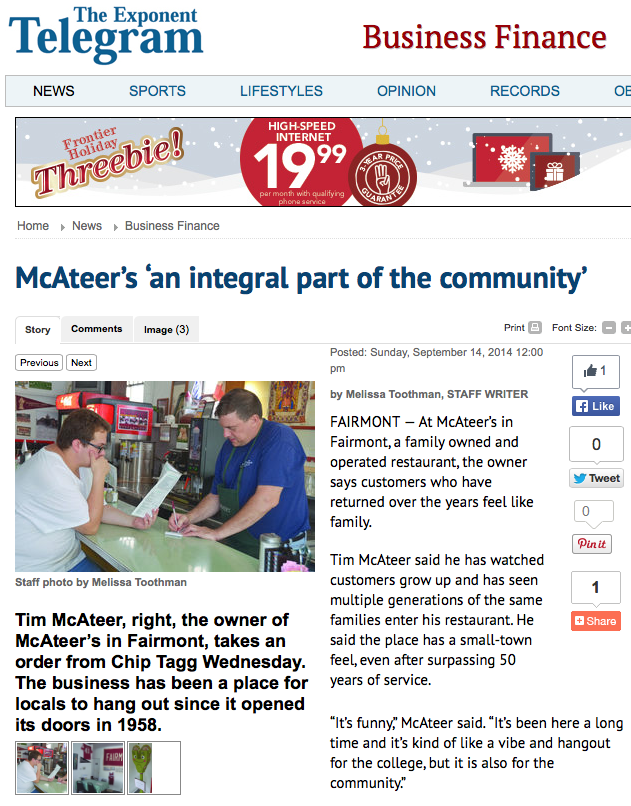 Mcateer S Fairmont Wv Mcateer S An Integral Part Of The Community
