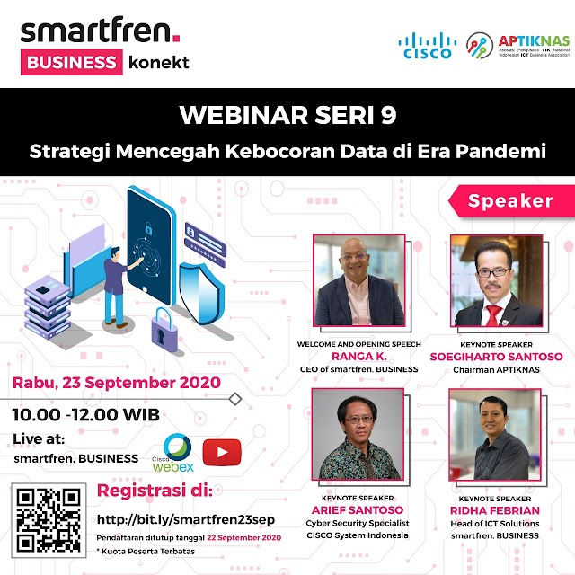 Webinar Strategi Mencegah Kebocoran Data di Era Pandemi 23 Sep 2020