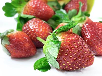 Strawberries close up stock image