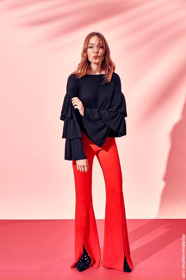 Blusas de moda primavera verano 2018. Ropa de moda mujer primavera verano 2018.