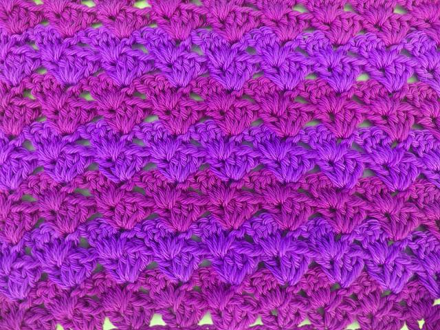 6 - Crochet Imagen Puntada a crochet a facil sencillo bareta paso a paso DIY puntada punto alto punto bajo