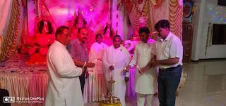 ब्रह्माकुमारी संस्था द्वारा चैतन्य देवियों की झांकी का आयोजन किया गया