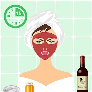 beaux-vin blog découvrir vin masque beauté visage