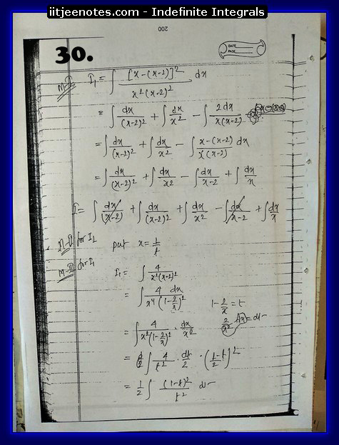 indefinite integrals iitjee2