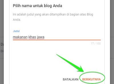 cara buat alamat blogger