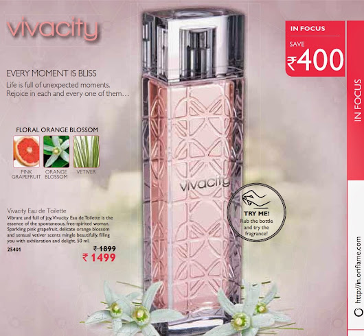 vivacity eau de toilette 25401 catalogue oriflame march 2015 india page 15