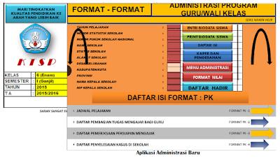 Adm Kelas | Contoh Kumpulan Format Administrasi Guru Kelas SD/MI Lengkap Versi Xls - Arsip Bendahara