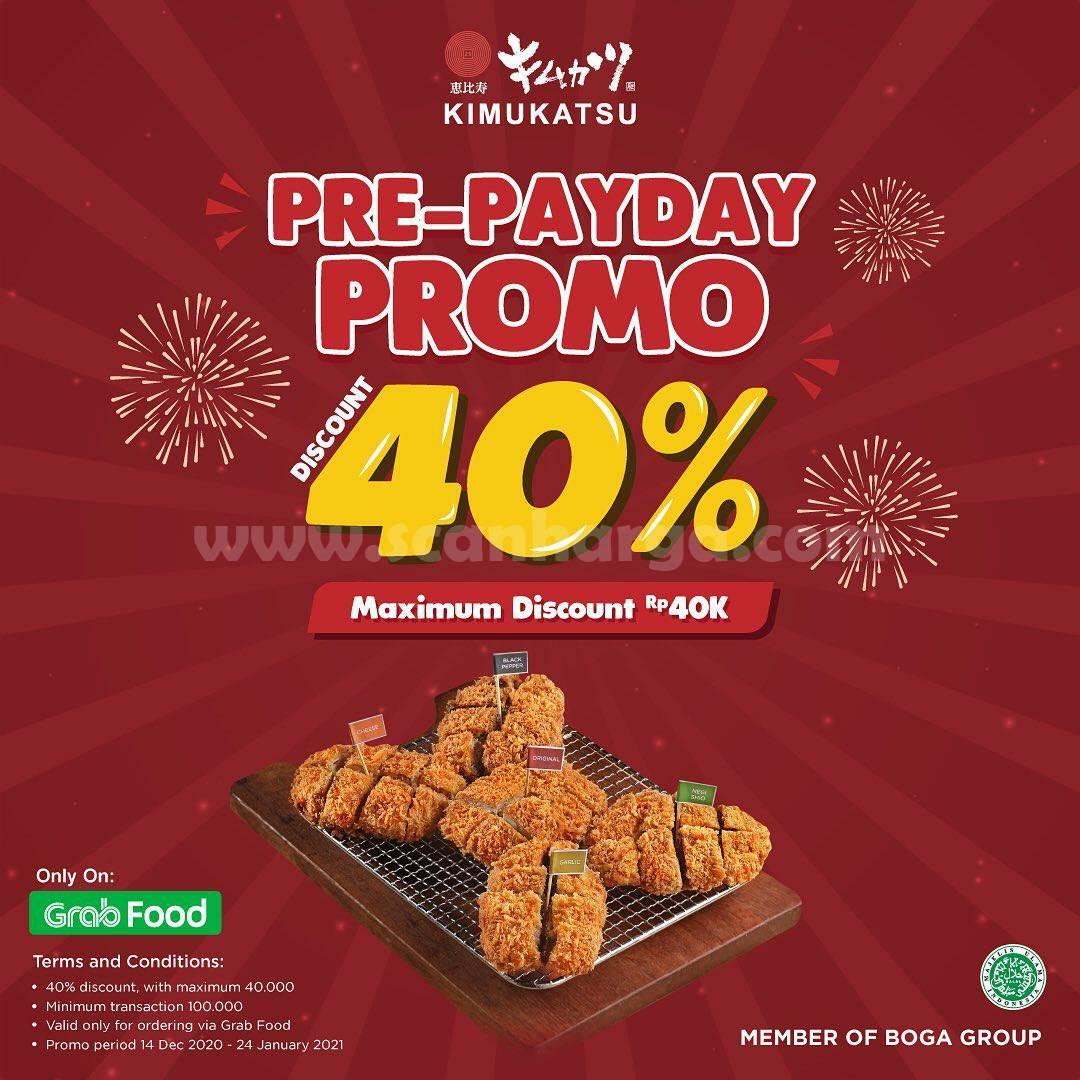 Promo Kimukatsu Pre-PayDay – Diskon 40% Khusus Pesan order via Grabfood