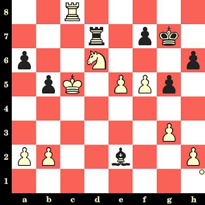 Les Blancs jouent et matent en 4 coups - Nana Dzagnidze vs Alexandra Samaganova, Tromsø, 2014